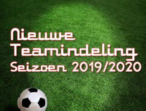 Teamindelingen seizoen 2019/2020